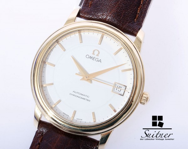 seltener Omega Automatic Chronometer Prestige 750 Gold 46002102 Papiere