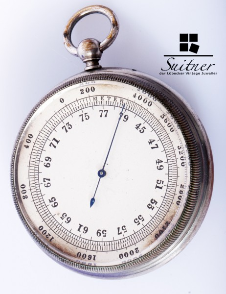 antiker deutscher Höhenmesser wie Taschenuhr, bis 4000 Meter