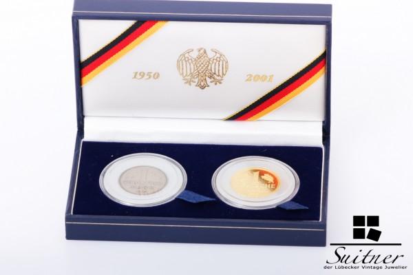 Chronik der Deutschen Mark 1950-2001 12 g 999 Gold J neuwertig