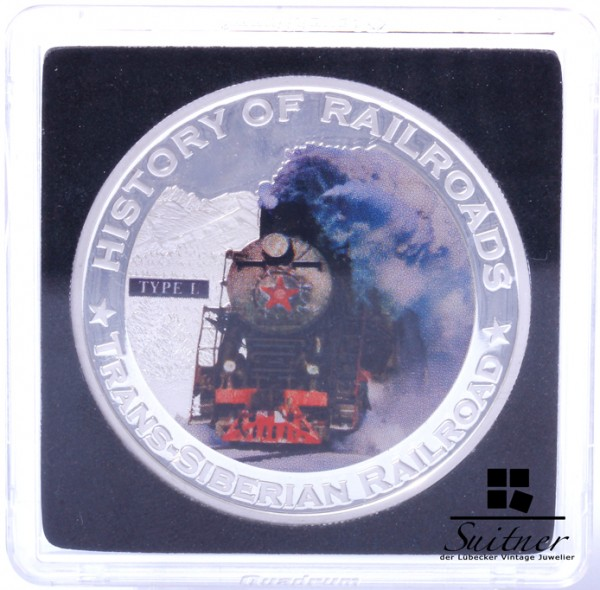 5 Dollar 2011 History of Railroads Trans- Siberian Railroad Silber