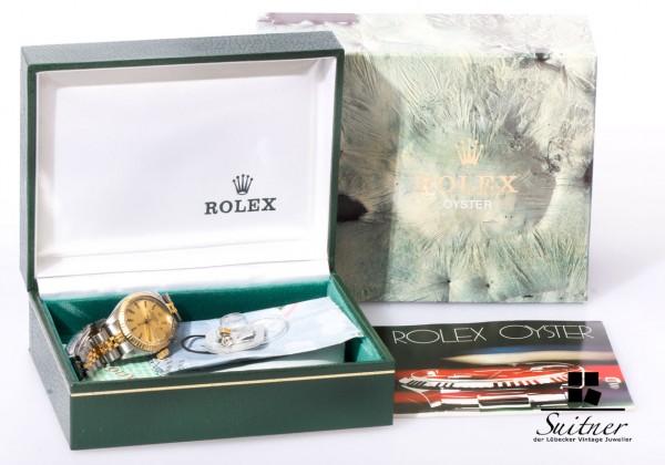 Rolex 6917 Lady Datejust Stahl Gold Original Box Teil Papiere Top Zustand