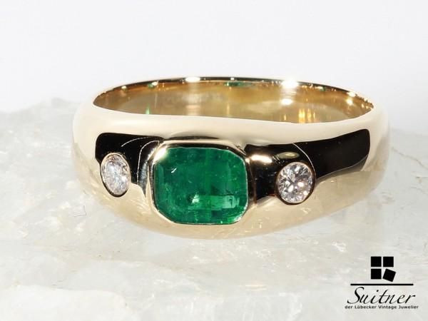 Luxus pur - Smaragd und Brillantring