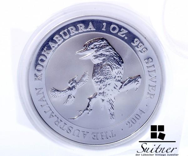 Australien 1 Dollar 999 Silber Kookaburra 1 Oz 2004 PP
