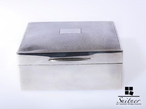 Silber Birmingham kleiner Kasten 1954 Dose Schatulle Sterling