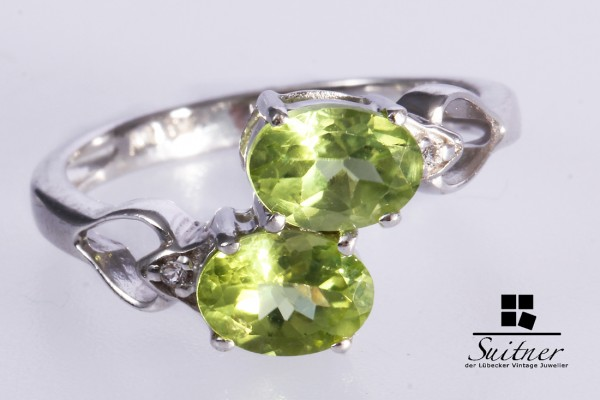 Harry Ivens Ring Peridot / Olivin 925 Silber Gr. 53