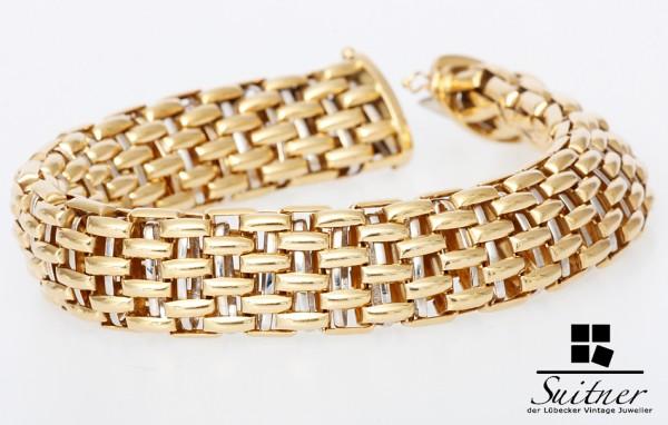 Fope Armband Gelbgold und Weißgold 750 Gold Luxus Paralleli