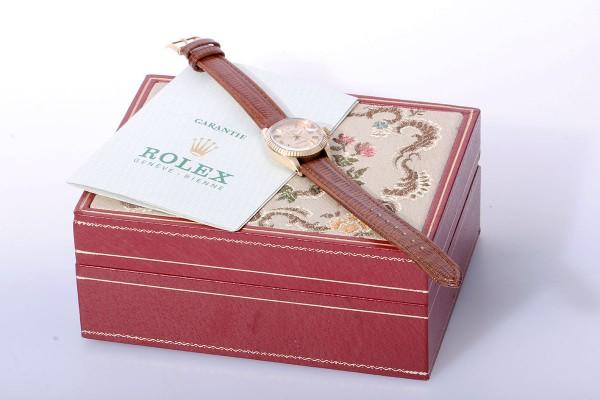 Rolex Lady Datejust 6917 aus 1976 mit Box und Papieren 750 Gold LC 100