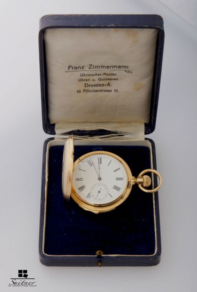 massive LeCoultre 1/4 Repetition Taschenuhr 750 Gold Pocketwatch 18k