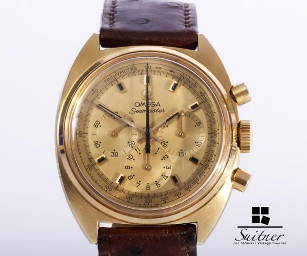 Omega Seamaster Vintage 750 18kt Gold Kal. 861 Selten RAR Expertise Chronograph