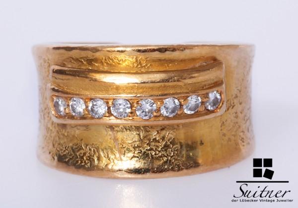 750 Gold Ring Brillanten ca. 0,16 ct