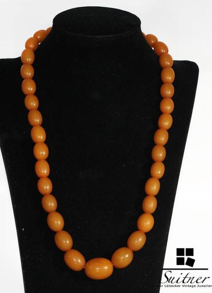 antike große Bernstein Kette Butterscotch real Amper prayer beads