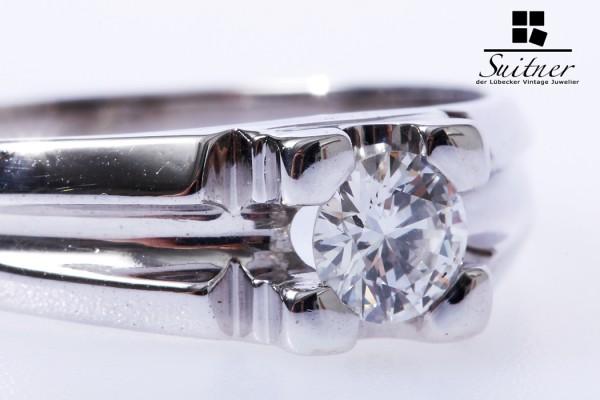 prächtiger Brillant Ring für den Herren Solitär ca. 0,50 ct Gr. 64