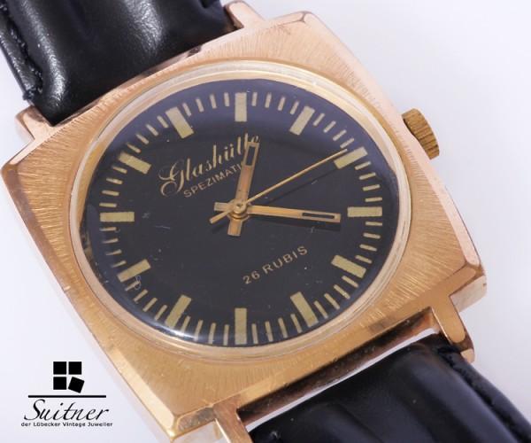 Glashütte Spezimatic Vintage Herren Uhr Kaliber 74 defekt