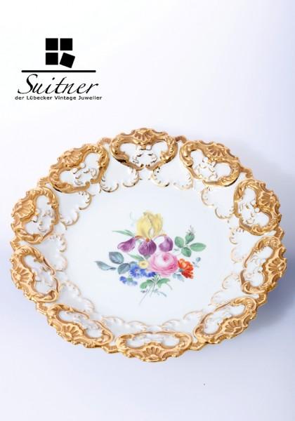 Kleiner Prunkteller mit Bouquet-Malerei - Meissen