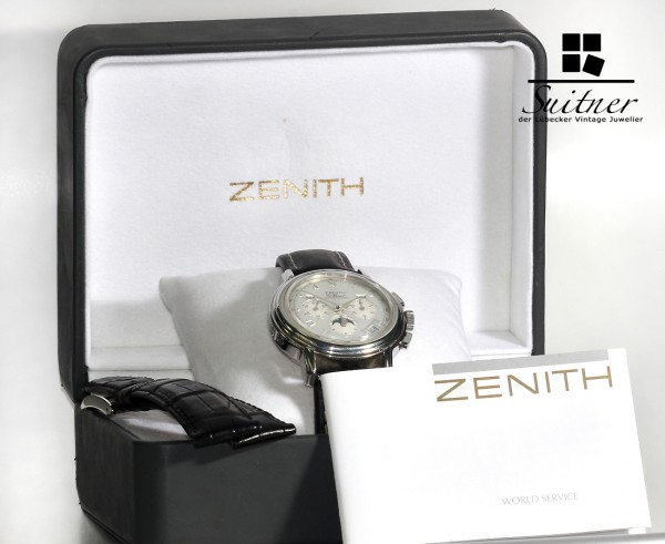 Zenith El Primero Grand Complication Chronomaster Stahl Mondphase