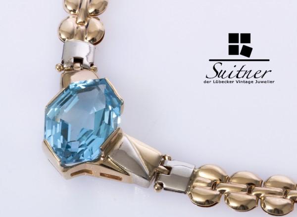 extravagantes Topas Collier aus 585 Gold Handarbeit Luxus XL