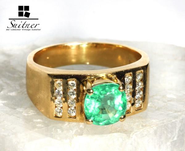 Smaragd und Brillant Ring