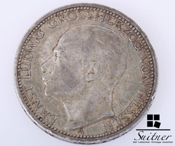 Hessen 3 Mark 1910 Prägestätte A SS - selten