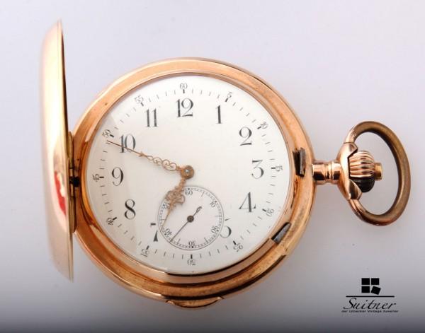 Invicta Taschenuhr Repetition 585 Gold Rotgold Schlagwerk