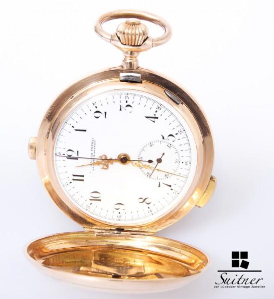Audemars Freres massive Taschenuhr mit Repetition Chronograph - TOP Gold
