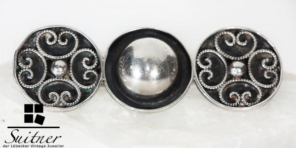 Antike 835 Silber Brosche Filigran Schmuck Modernist wohl Dänemark Kugeln