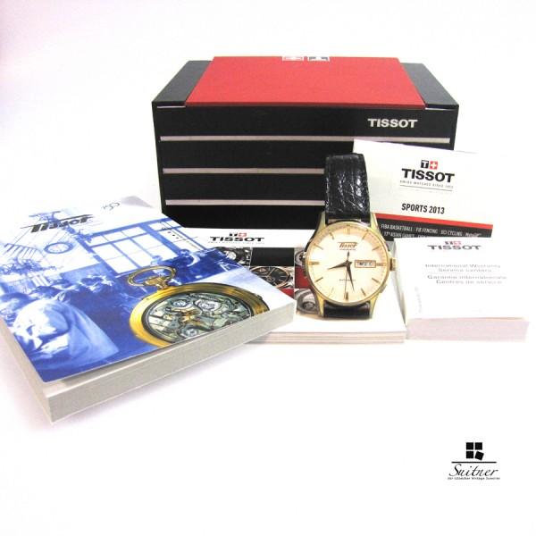 Tissot Visodate Daydate T019430B vergoldet Automatik Full set Box