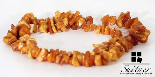 antike Bernsteinkette Endloskette Butterscotch Brocken real Natur Amber