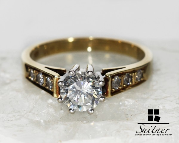 Brillant Ring ca. 0,80 ct Klassiker Gold 585