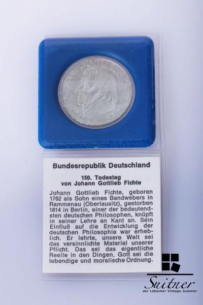 Fichte 5 DM J 1964 VZ Silber Münze Coin Deutsche Mark