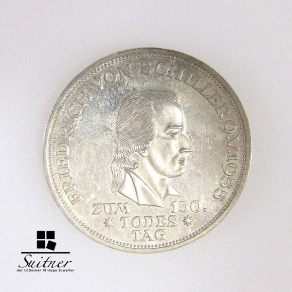 5 DM 1955 F Friedrich von Schiller