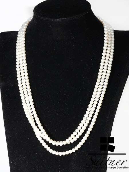 Schoeffel Collier aus Süßwasserzuchtperlen 750 Gold Perlen Luxus