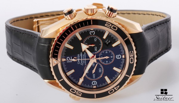 Omega Seamaster Planet Ocean 600m Chronograph in Roségold Full Set