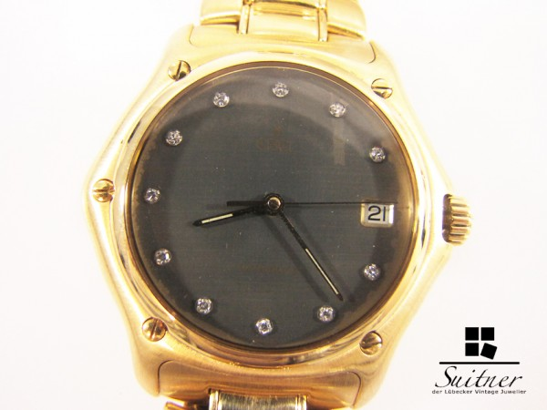 XL Ebel 1911 750 Gold massiv Automatik Diamanten 161 Gramm