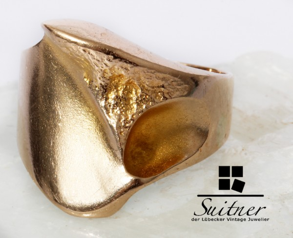Lapponia Ring 585 Gold Weckström Finnland Gr. 54 Nugget