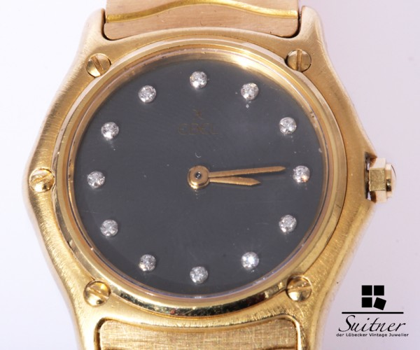 Ebel Lady Classic Wave Diamanten 750 Gold 18 kt NP 11260,- Papiere