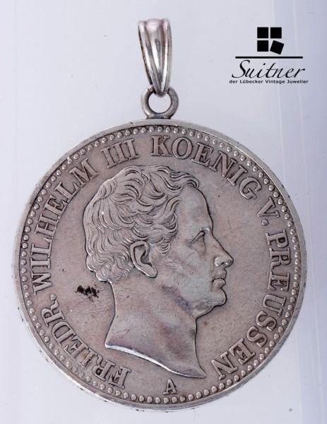 Preussen Münze eine feine Mark 1833 A VZ Mansfelder Bergbaues