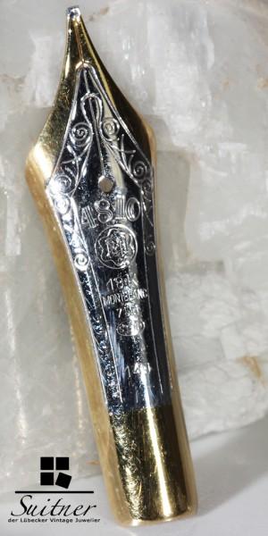 Original Montblanc 750 Gold Feder als Brosche Anstecknadel - selten