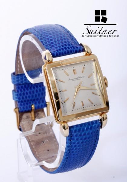 seltener IWC Rectangular 750 Gold mit Caliber 89 Bj 1949 perfekte Uhr