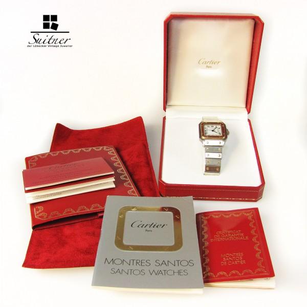 Cartier Santos Automatik Stahl/Gold mit Box und Zertifikat Big Model