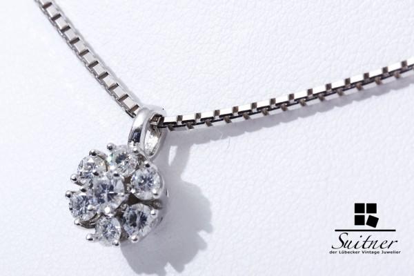 moderne Diamant Kette mit ca. 0,56ct Brillanten 585 Weißgold