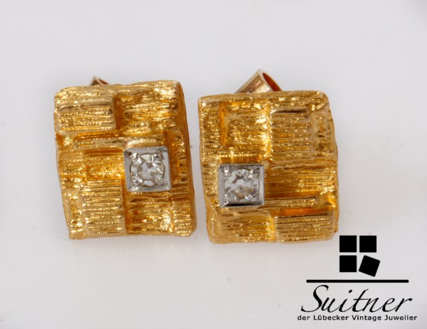 Lapponia Ohrstecker Stecker Diamanten 750 Gold Weckström