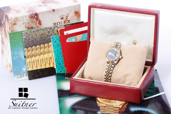 Rolex Lady Date Datejust Mod. 69173 Stahl/Gold mit Box und Zertifikat