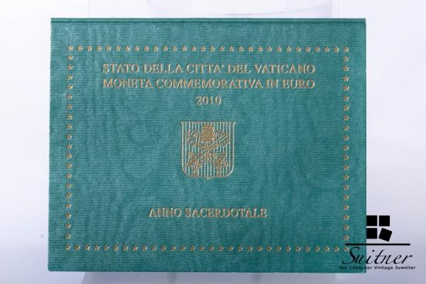 Vatican 2010 R 2,- Euro Münze Priesterjahr Originalverpackung Blister Vatikan