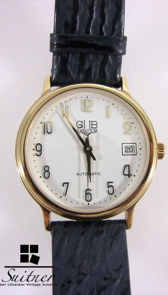 Glashütte/SA GUB Automatik Vintage Uhr Kal. ETA 2824-2 seltene Sammleruhr