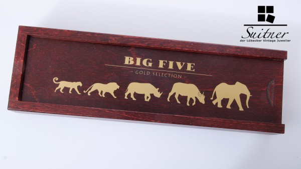 Big Five Kamerun 5 Goldmünzen 0,5 gr. PP Feingold