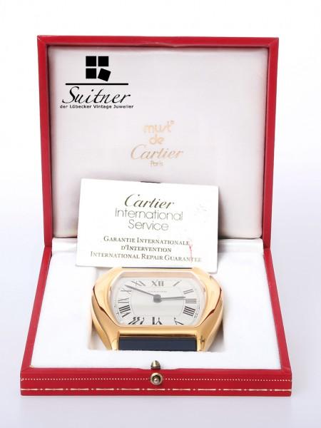 Cartier Tank Wecker Reisewecker mit Box