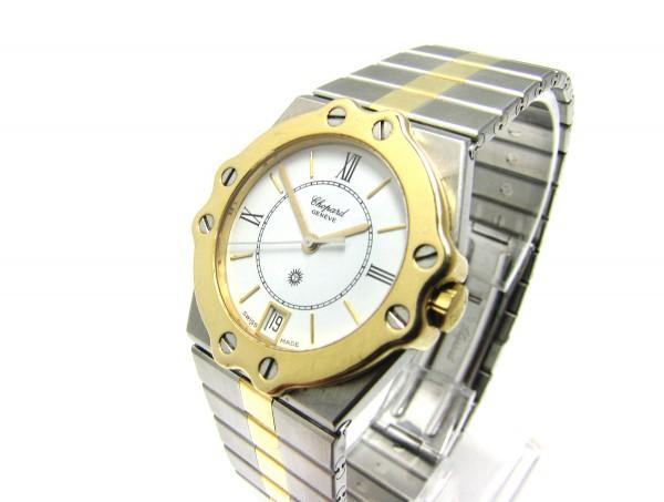 Chopard St. Moritz Stahl/750 Gold 32mm Ref. 8023 Uhr Medium Quarz Klassiker