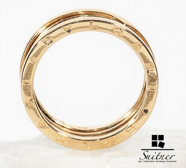 großer Bulgari Herren Ring b.zero aus 750 Gold Größe 66 XXL Ehering Luxus