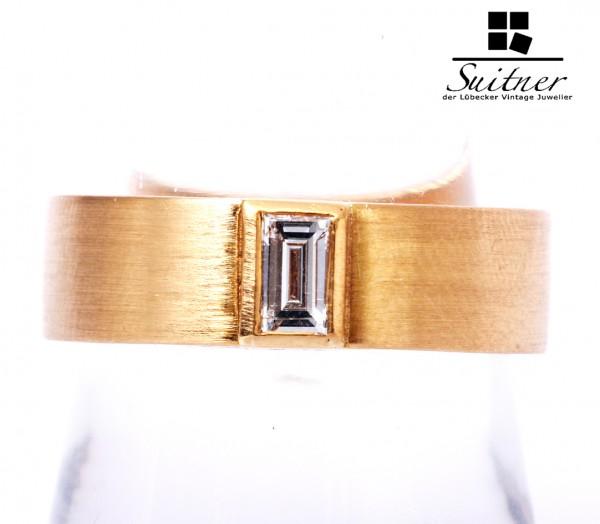 Diamant Ring Baguette Schliff ca. 0,08 ct 750 Gold