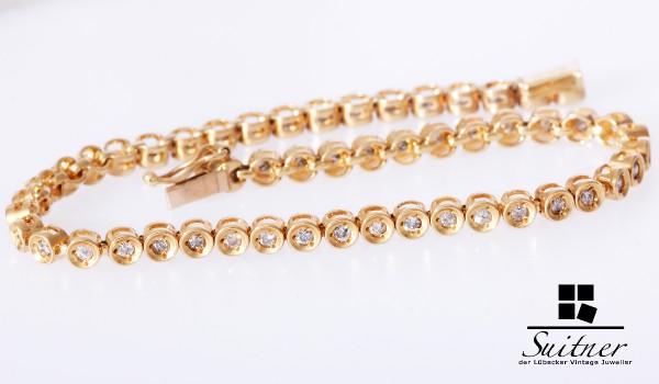 Tennis Armband Rivieré mit Brillanten zus. ca. 1,00ct Tennisarmband Bracelet